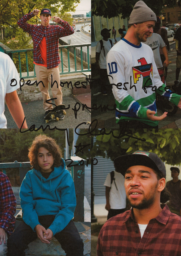 supreme 2010 fallwinter collection open honest fresh faces lookbook by larry clark