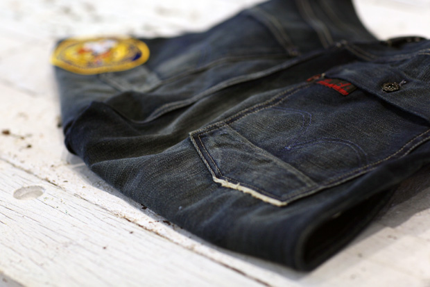 clot x levis nylon dynasty 502 washed jeans