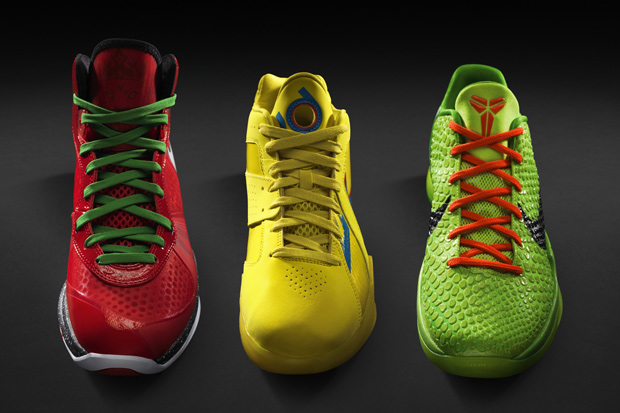 Nike Basketball hits us with a look into their signature lineup for 2010's  Christmas Day footwear collection, featuring new renditions of the Lebron  VIII, ...