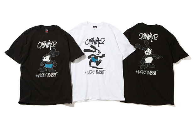 stussy x oswald the lucky rabbit t shirts