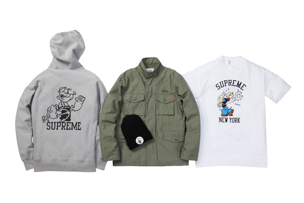 supreme x popeye 2010 fallwinter collection