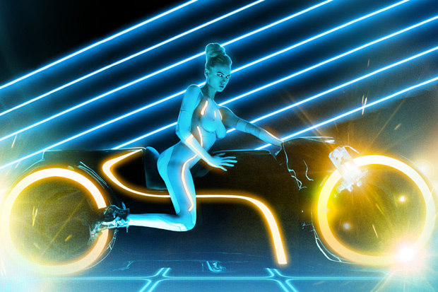 tron x playboy photoshoot