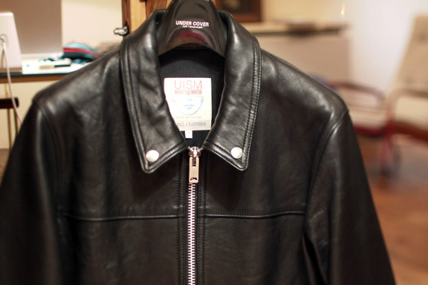 undercover x bounty hunter leather jacket