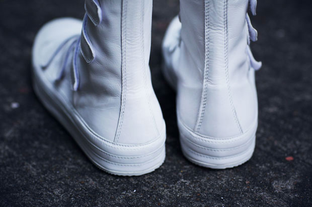 ann demeulemeester high sneakers