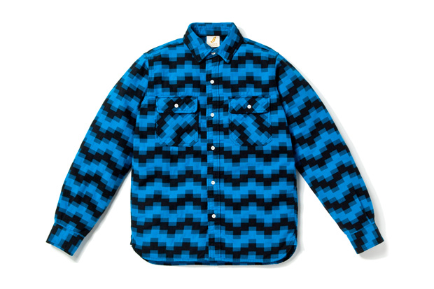 billionaire boys club digi jack elbow patch shirt