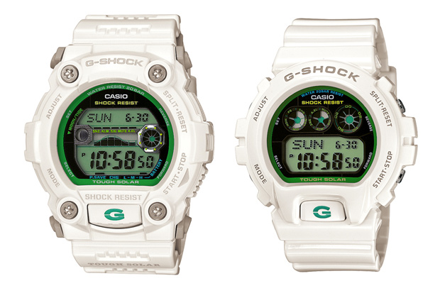 casio g shock green colors collection