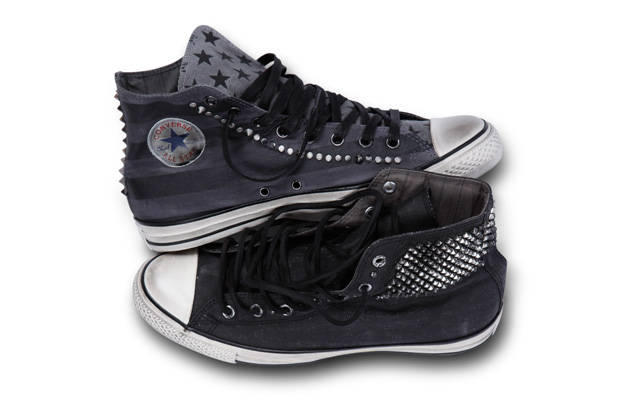 converse by john varvatos painted flag studded chuck taylor all star