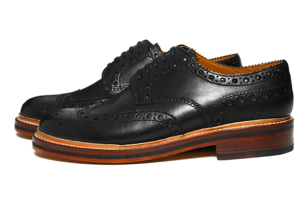 grenson archie brogue waxed leather