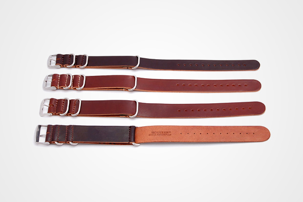 leffot horween shell cordovan nato watch straps