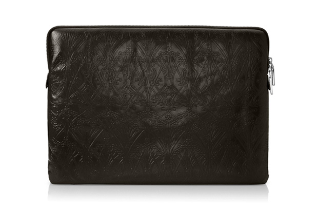 liberty of london ianthe leather laptop sleeve