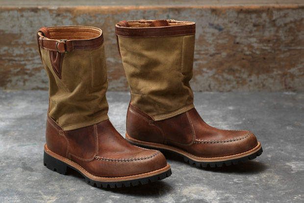 timberland boot company 2011 fall tackhead 10 canvasleather pull on boot