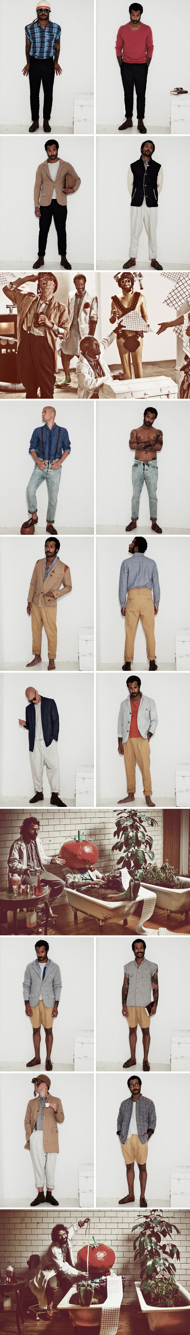 uniforms for the dedicated 2011 springsummer dummy plant 1a collection