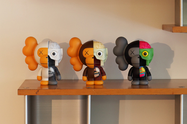 a bathing ape baby milo x kaws dissected companion toy a closer look