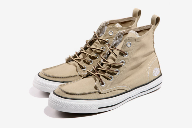 cb5cb43cba79f2 Dickies and Converse s footwear arrangement once again surfaces with an  upcoming revamping of the Chuck Taylor All Star. The Chuck Taylor AS  Classic Boot Hi ...