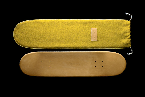 greg hervieux x domeau peres leather skate deck