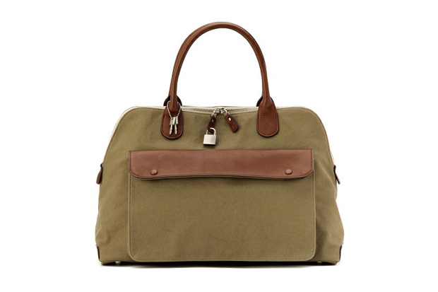 margaret howell x porter cotton canvas boston bag