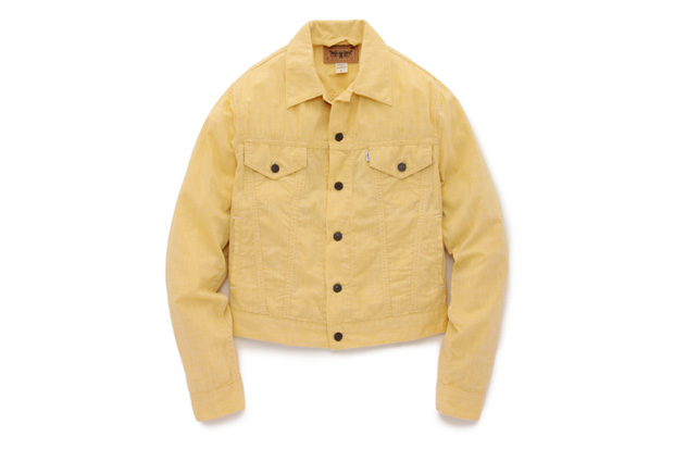 opening ceremony x levis trucker jacket yellow chambray