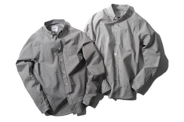 reigning champ for haven raglan button down shirts