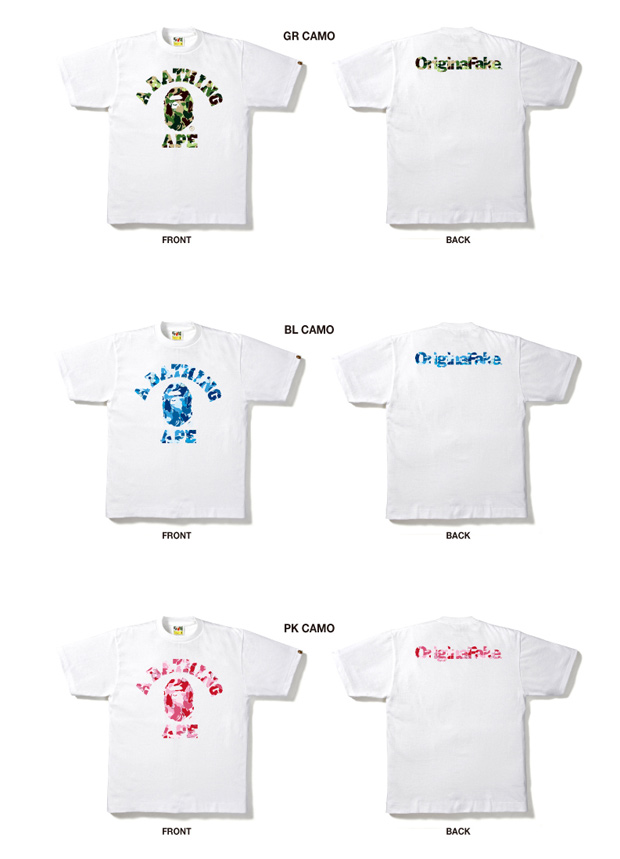 a bathing ape x originalfake 5th anniversary collection