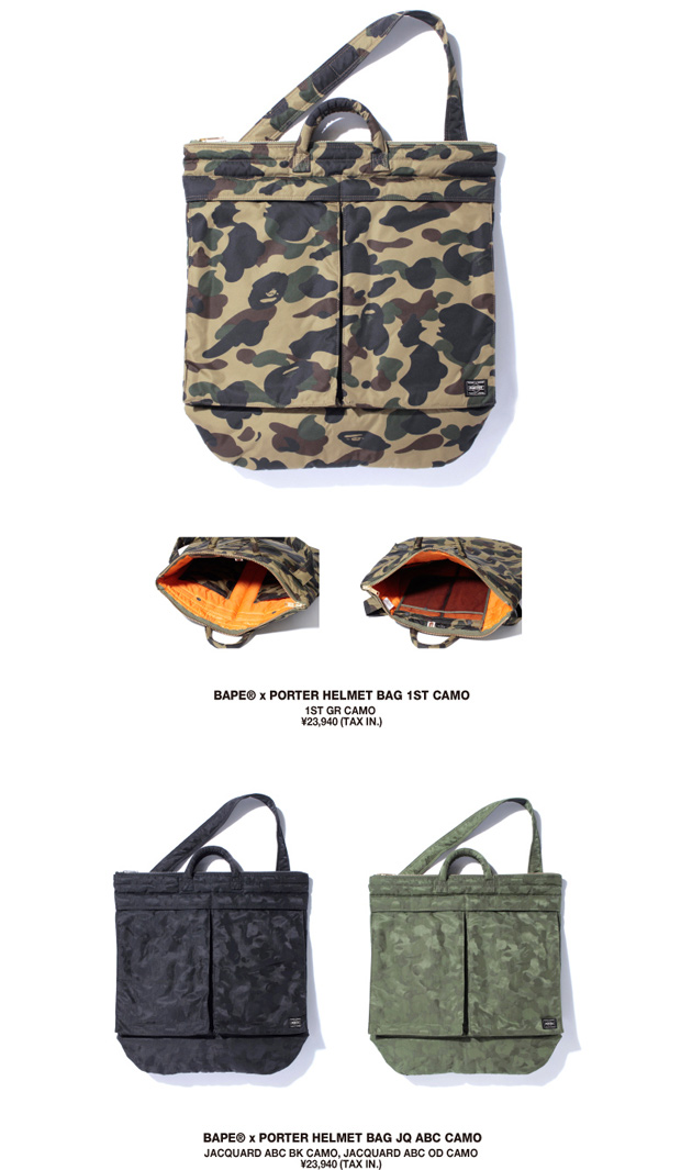 a bathing ape x porter 2011 summer capsule collection further look