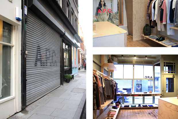 a p c east london store opening