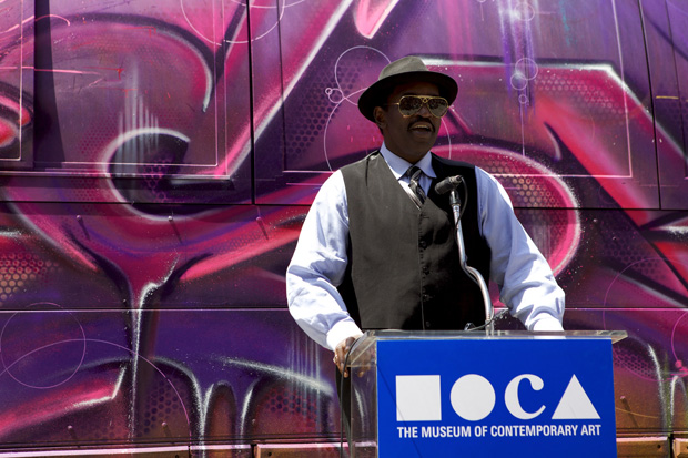 fab 5 freddy at moca art in the streets
