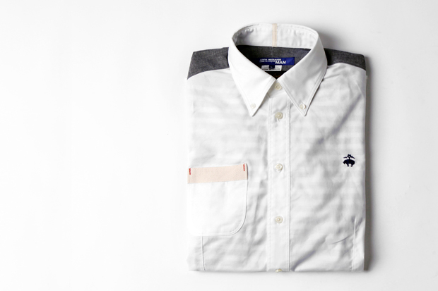 junya watanabe comme des garcons man x brooks brothers button down shirt
