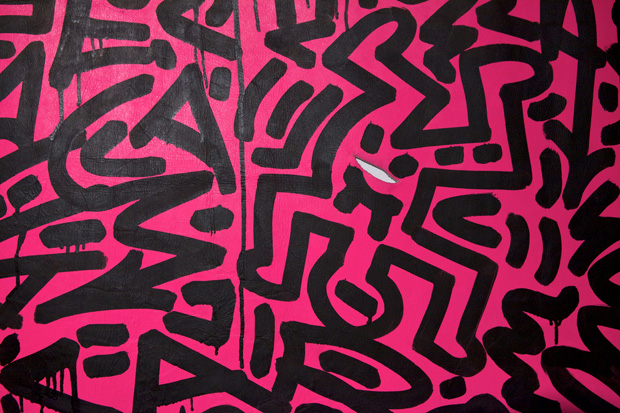 keith haring at moca art in the streets