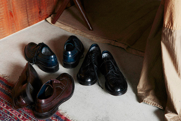 nonnative x regal cow leather gore tex officer shoes