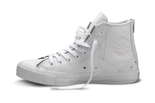schott nyc x converse chuck taylor all star white leather jacket