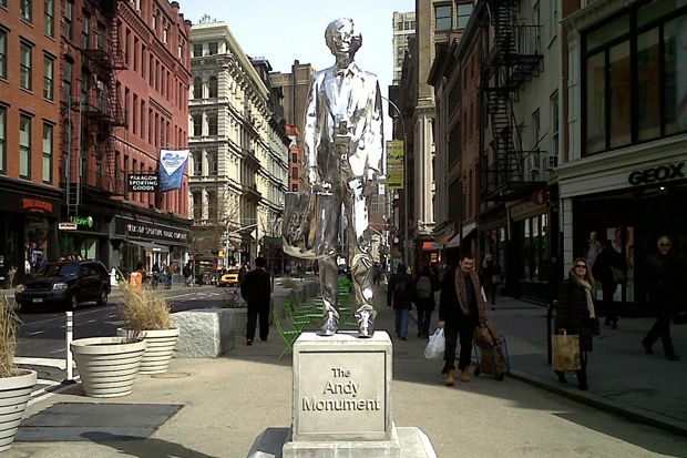 the andy monument in union square