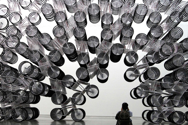 Frank Zweegers - Forever (bicycle installation)