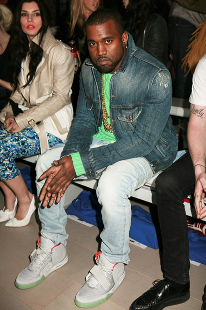 Kanye West in 'Zen Grey' Nike Air Yeezy 2s