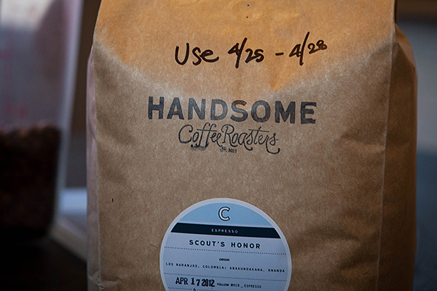 process the 5oz espresso and milk by handsome coffee