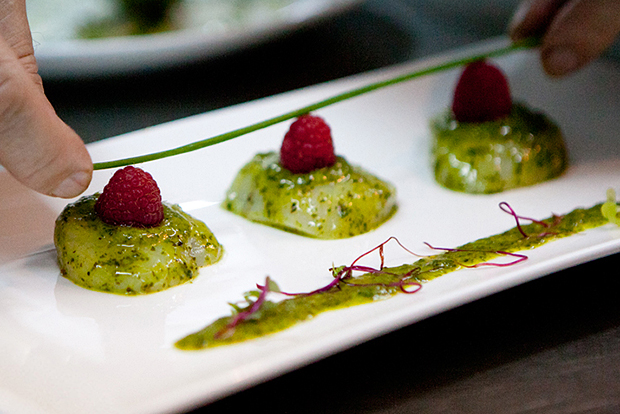 hypebeast eats marinated scallops with watercress and wasabi by chez patrick deli