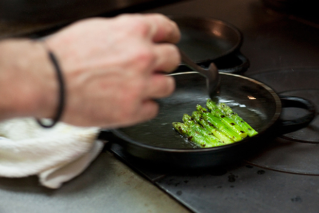 hypebeast eats chopped 21st century egg white and truffle with chargrilled asparagus by shane osborn of st betty
