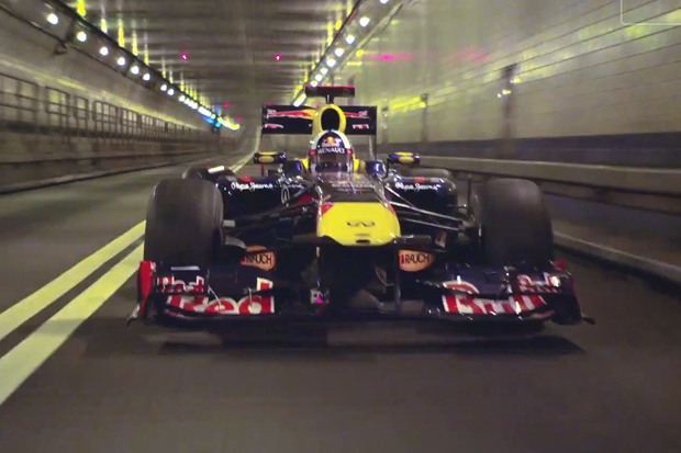 Red Bull Racing's Formula One Car Burns Rubber on the Streets<br /> of New York&#8221; title=&#8221;Red Bull Racing's Formula One Car Burns Rubber on the Streets<br /> of New York&#8221; width=&#8221;200&#8243; /><br />     	        </a>     	    </div> </td> <td> <div class=