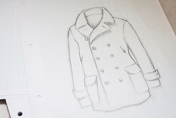 process the making of an s e h kelly peacoat