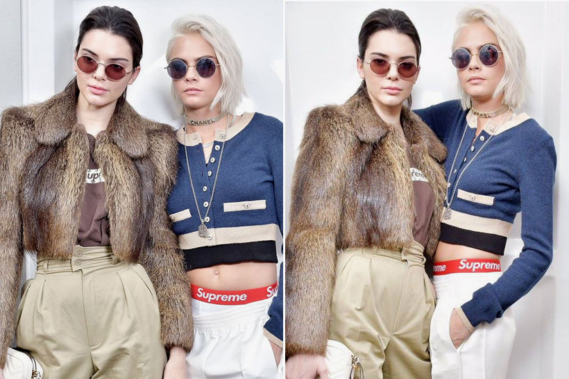 708748e5 Kendall Jenner and Cara Delevingne have recently been spotted wearing  Supreme. How do you feel about extremely popular celebrities wearing the  brand?