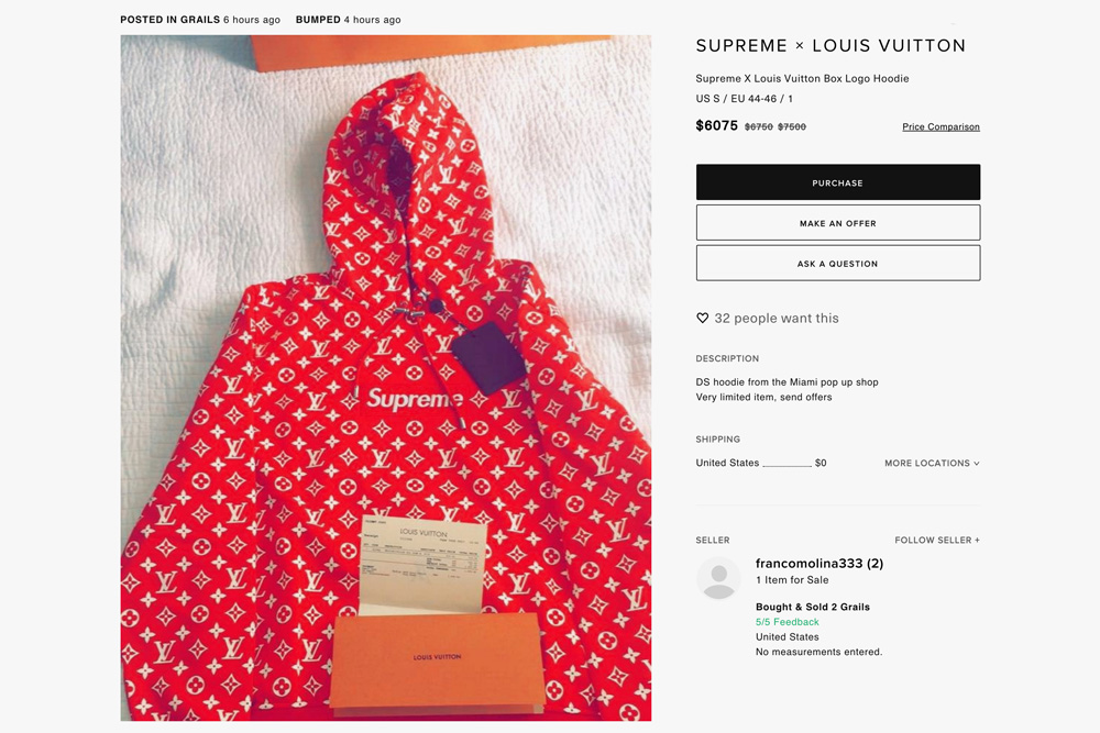 e0112818e7c7 Supreme x Louis Vuitton Absurd Resell Prices | HYPEBEAST