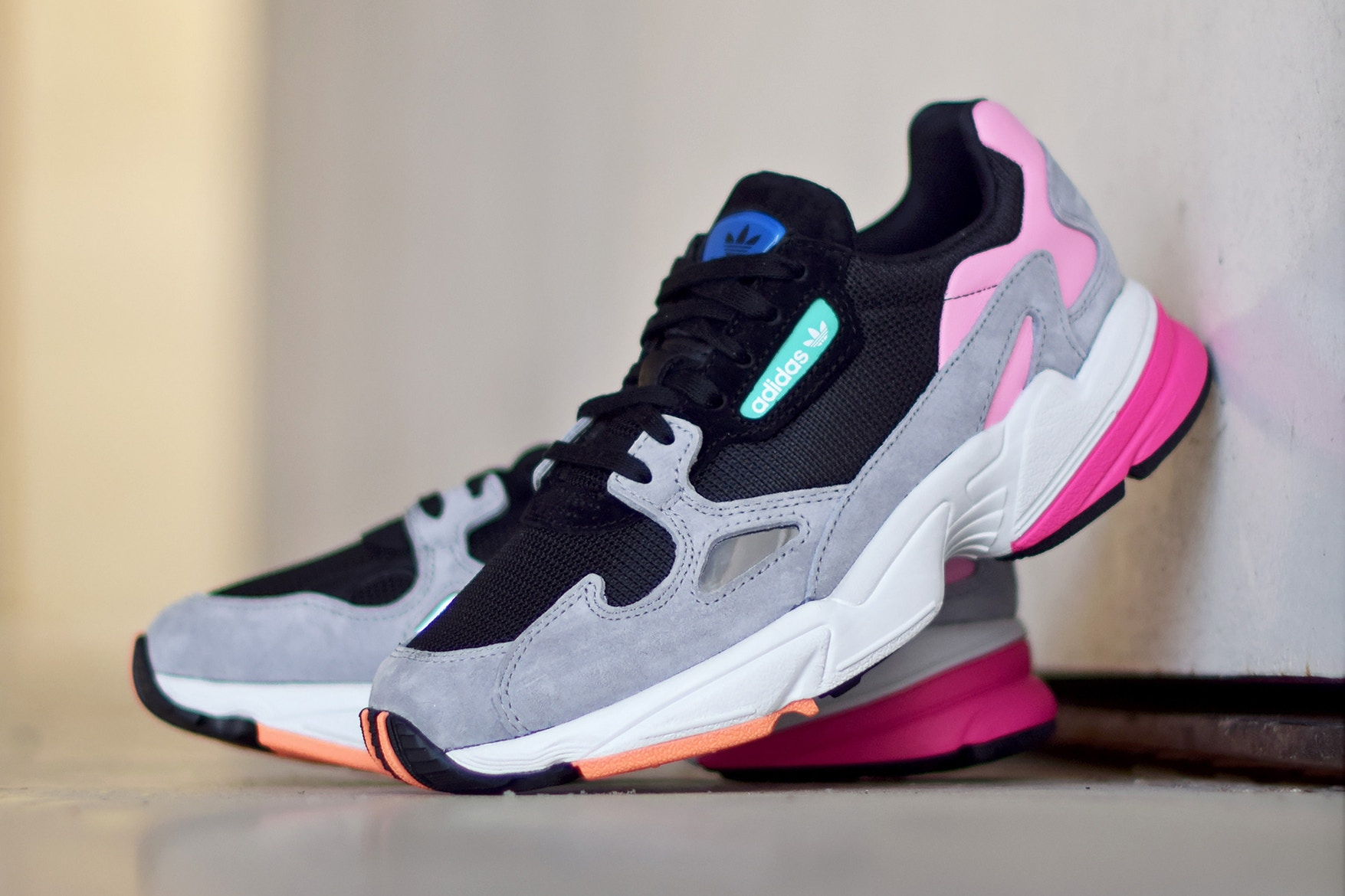 """outlet online first look better Adidas Falcon """"Core Black/Light Granite"""""""