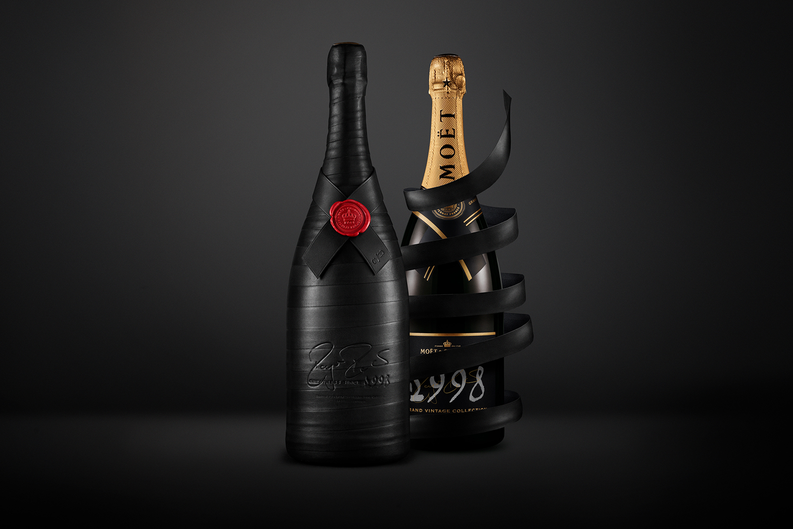 Moët & Chandon GREATNESS SINCE 1998 Collection roger federer exclusive limited edition champagne