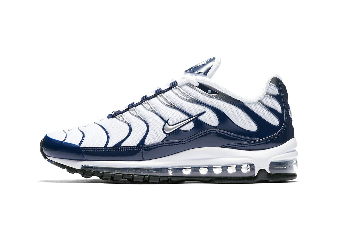 Nike Air Max 97/Plus Navy/Metallic Silver 2018 nike sportswear footwear air max plus air max 97