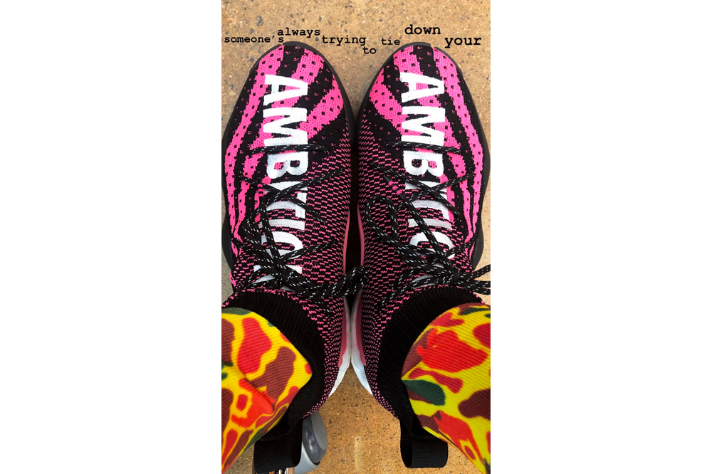 Pharrell williams adidas Crazy BYW Black And Pink first look AMBITION summer drop june 2018 adidas originals adidas Hoops footwear