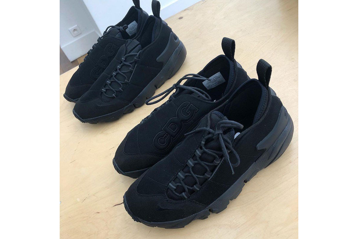 BLACK COMME des GARÇONS Nike Air Footscape NM paris fashion week sneaker collaboration teaser image leak debut release date info drop