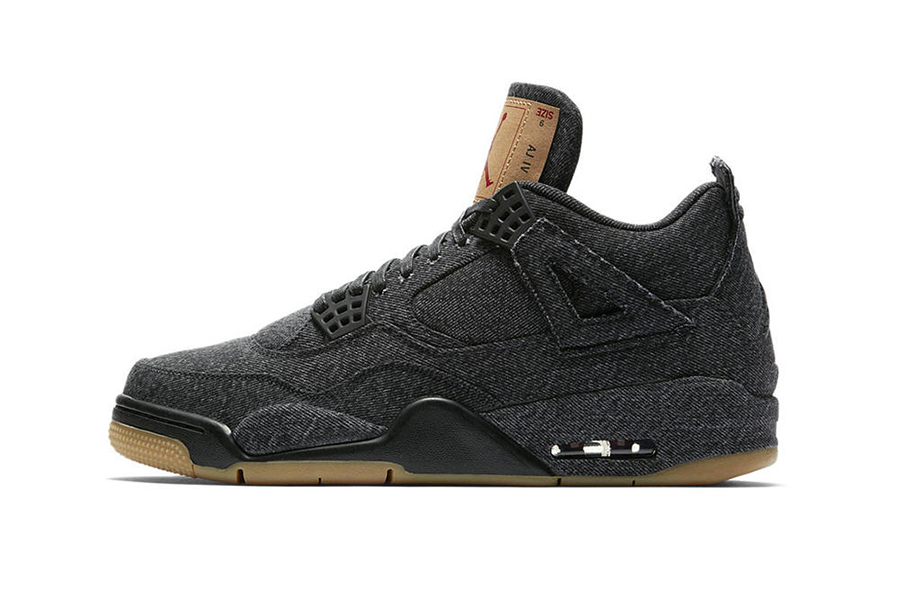 Levi's x Air Jordan 4 Black & White