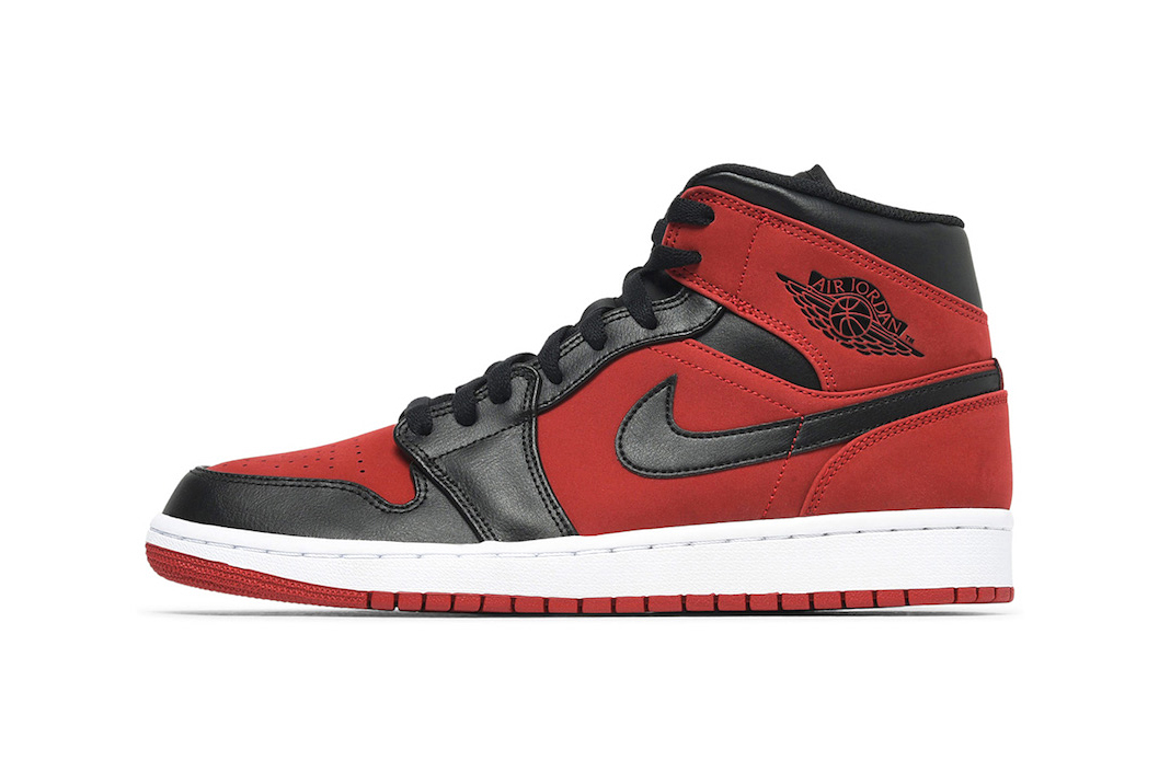 "8fc8f8db16b Air Jordan 1 Mid Gets Hit With A ""Bred"" Makeover"