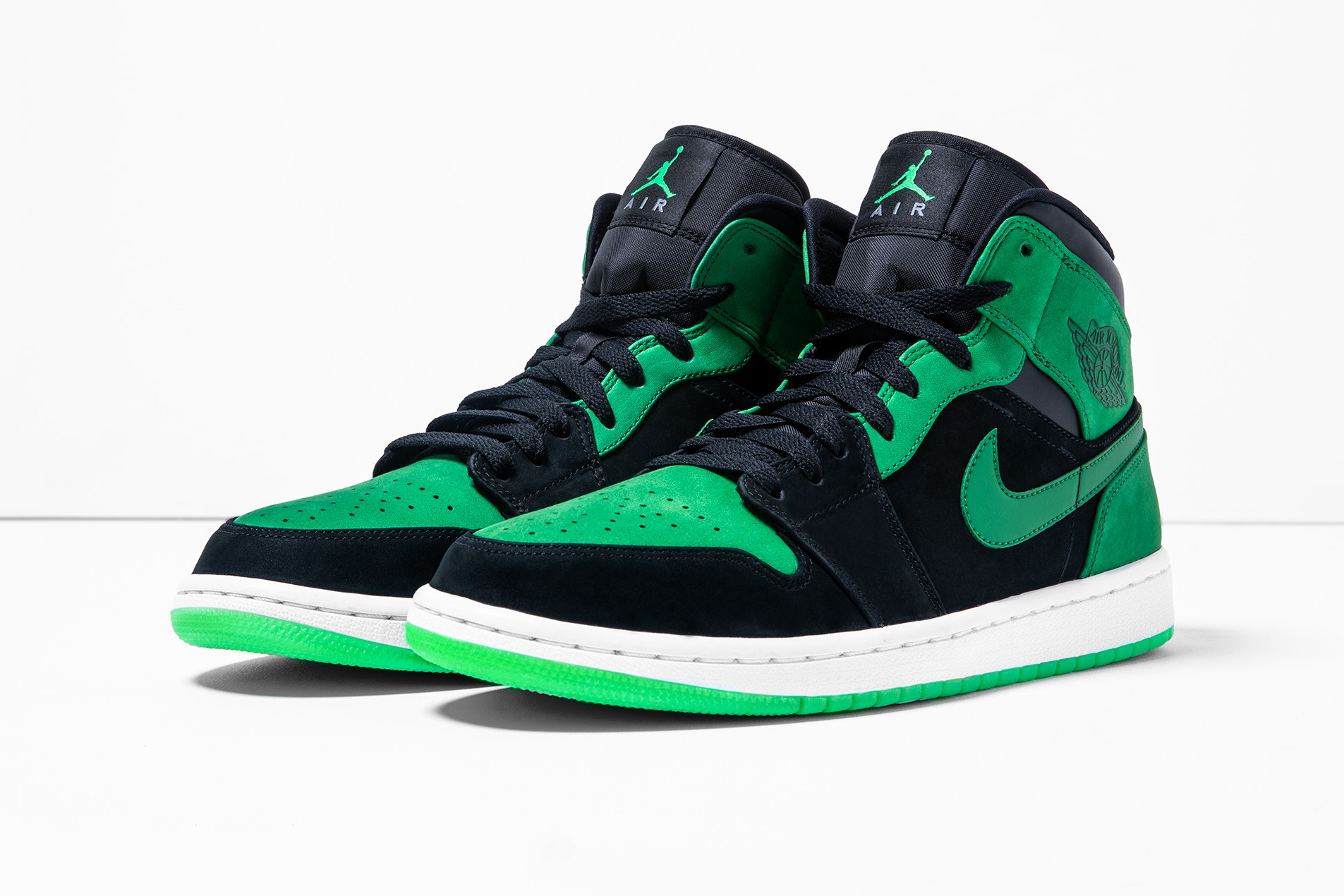 E3 2018 Exclusive Xbox Air Jordan 1 Official Look Black Green Mids jordan brand