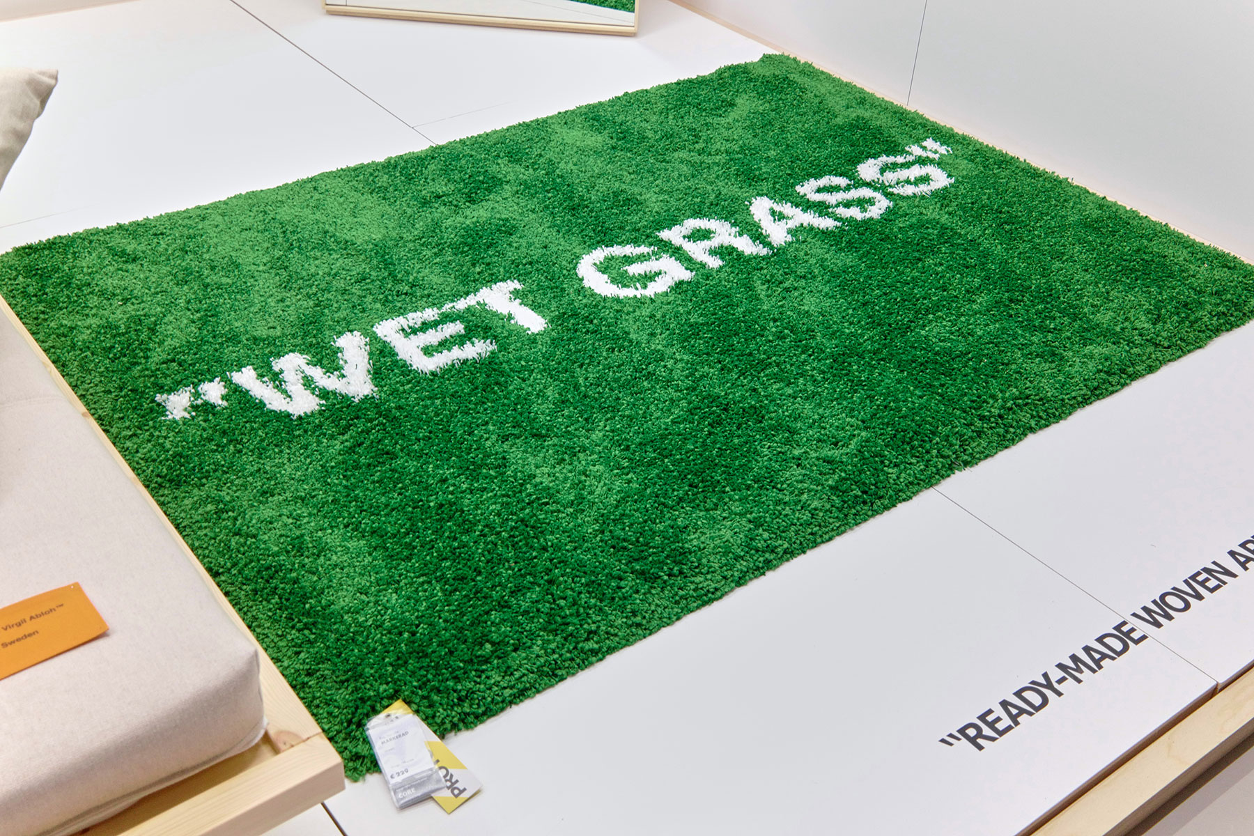 Virgil abloh addresses unoriginality claims on his ikea for Ikea grass rug