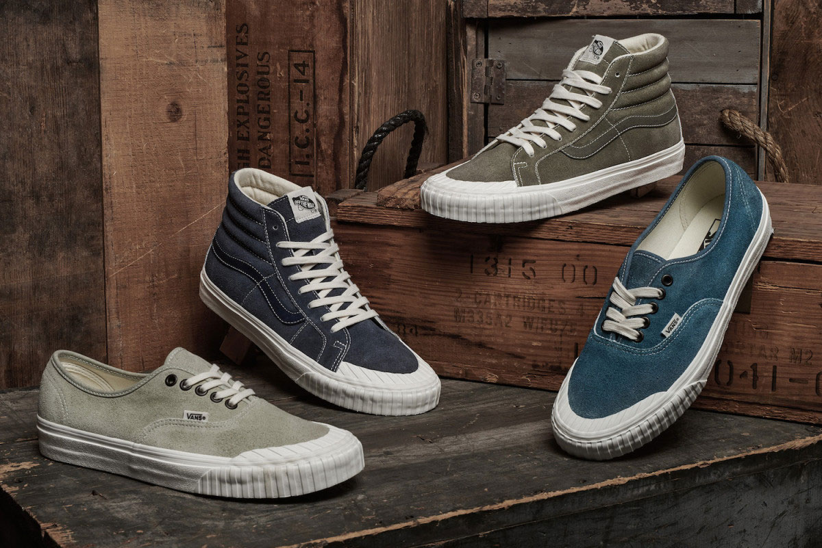 vans vintage military pack sk8 hi authentic sneaker corsair wheat cornstalk